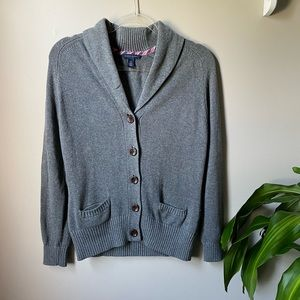 Gray Knitted Tommy Hilfiger Cardigan